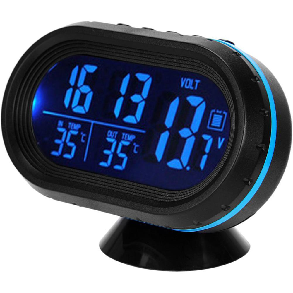 Wholesale 3 In 1 Car Kit Electronic Clock Thermometer Voltmeter Voltmeters Digital Display Inside And Outside Dual Temperature Measuring Tool With Automotive