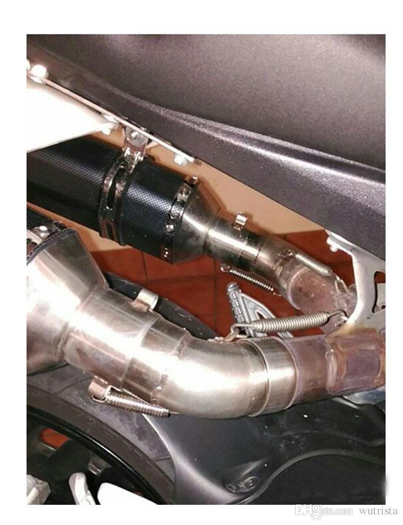 TKOSM-Universal 36-51mm Escape de la Motocicleta Modificado Akrapovic Scooter Escape Mufla GY6 para HONDA R1 R3 R6 FZ6 YZF ATV Escape de la Bici de la Suciedad