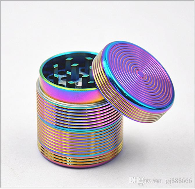 The New Bright Blue TOBACCO GRINDER Four Tobacco Grinder Broken Tobacco Research.