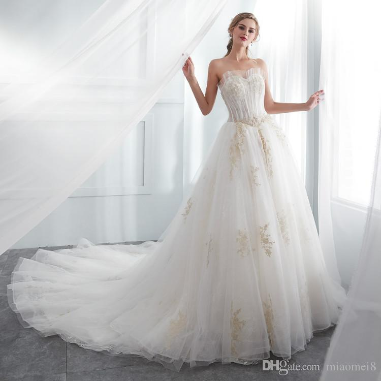 Discount 2018 Bridal Gown Wholesale Heavy Lace Wedding Dress 2018 ...