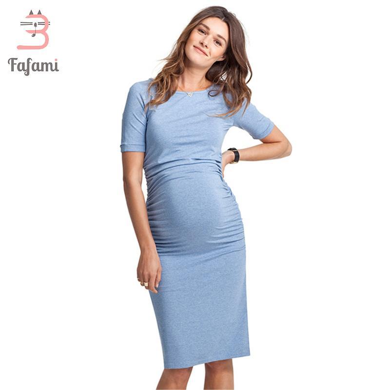 c8c1f2af1 Compre Vestidos De Maternidad Ropa De Lycra Para Mujeres Embarazadas Ropa  De Embarazo Ropa De Maternidad Para Sesión De Fotos Vestido De Enfermería  Sólido A ...