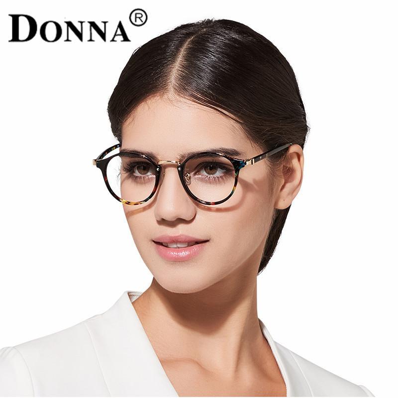 5cc067f83d2 2019 Donna Ladies Vintage Eyewear Glasses Frames Oversize Circle Women Men Optical  Eyeglasses Frame Ultra Light Frame Clear DN19 From Goodlines