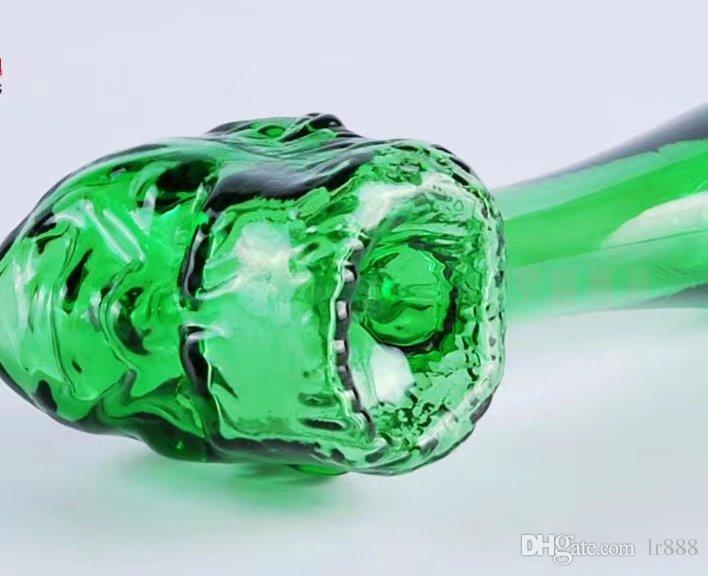 Tête faciale des animaux Gros bangs en verre Brûleurs à mazout Tuyaux Tuyaux d'eau Tuyaux en verre Tuyaux d'huile Rigs fumeurs Livraison gratuite