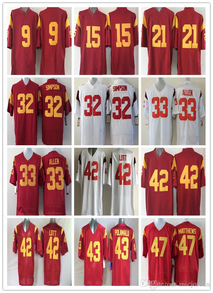 d6cc7c44981 ... football jersey from espnsport c62c5 06190; new zealand ncaa usc  trojans college 32 o.j simpson 33 marcus allen 42 ronnie lott 43