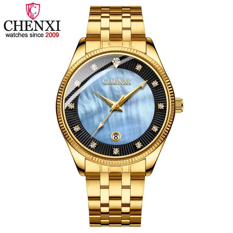 742ea4b6522f Compre CHENXI Hombres Relojes De Pulsera De Cuarzo Marca De Lujo Hombre  Golden Business Moda Reloj Para Hombre Shell Dial Reloj Vestido Relogio  Masculino A ...