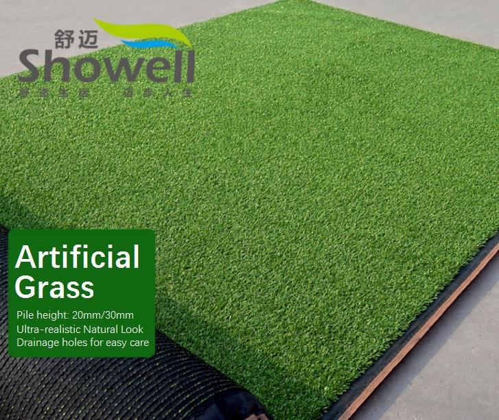 Green Artificial Grass Outdoor Carpet Turf Area 1x1m Solid
