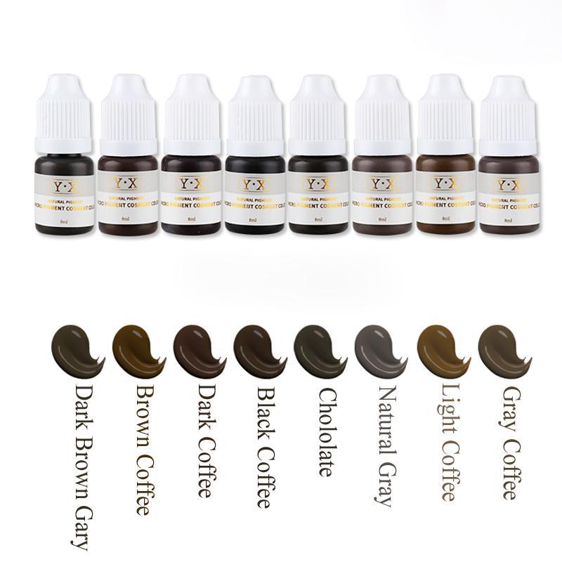 Kalıcı Makyaj için profesyonel Microblading Pigment Dövme mürekkebi Kaş / Dudak / Eyeliner Kozmetik Organik Mikro Pigment Renk dövme Malzemeleri