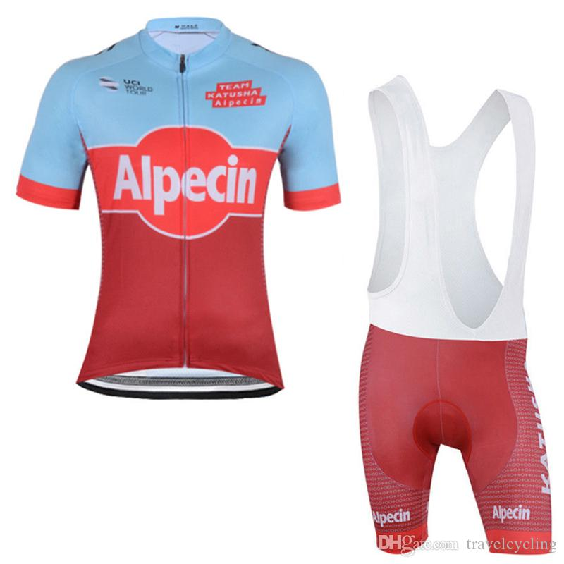 2018 Hot Sale Alpecin Cycling Jersey Set short Sleeve tops 3D GEL Padded pants Suit Bike Clothing MTB Bicycle Wear Cycling Clothes 92803Y