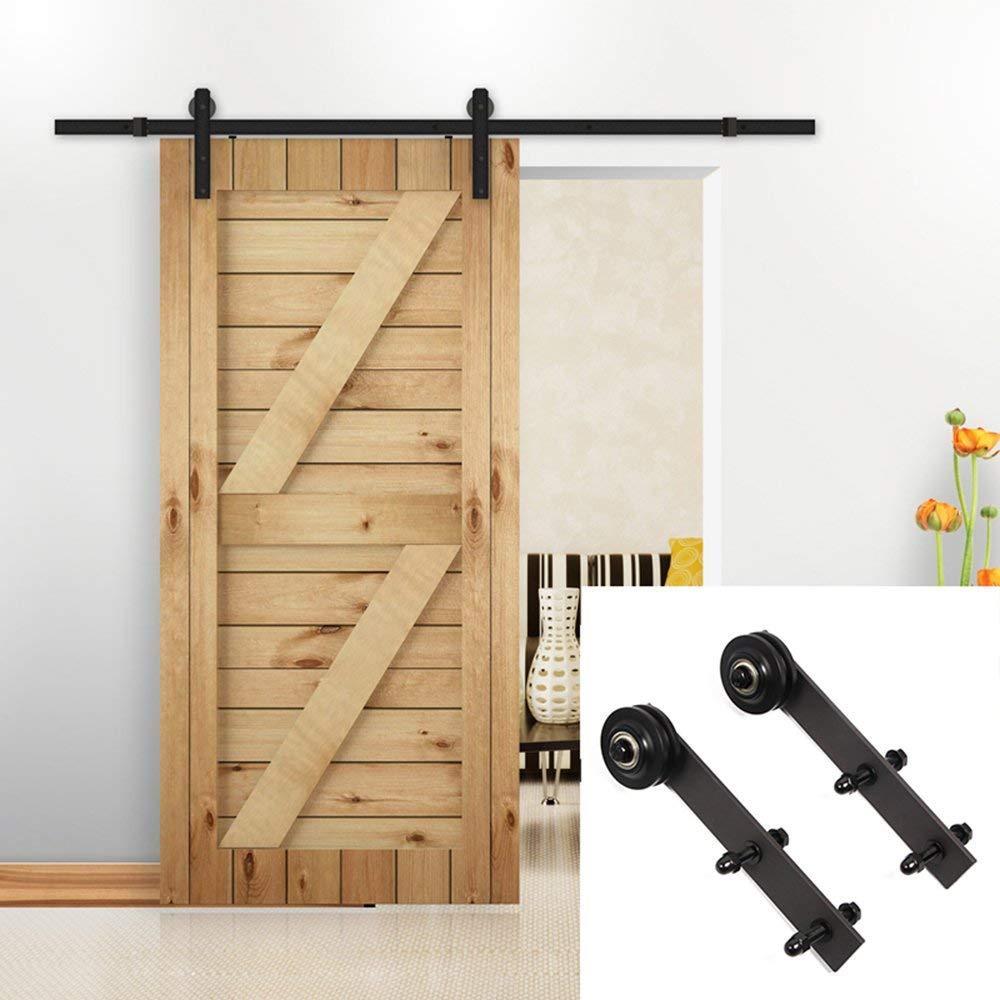 Charmant 2018 6.6ft Sliding Barn Door Hardware Kit Antique Style Wood Barn Door  Steel Antique Style Sliding Hardware Track Set From Att_hardware, $117.59 |  Dhgate.