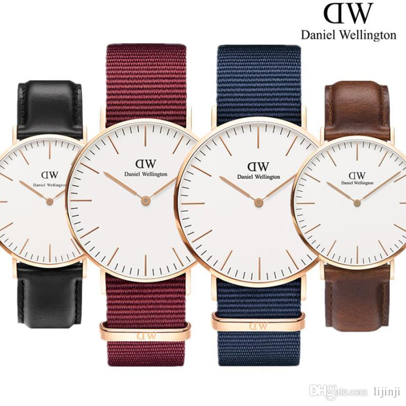 fd79438e05ba Compre Nuevo Daniel Wellington Nylon Correa Relojes 40mm Relojes Para  Hombres 36 Relojes DW Marca De Lujo Reloj De Cuarzo Reloj Femenino Relogio  Montre ...
