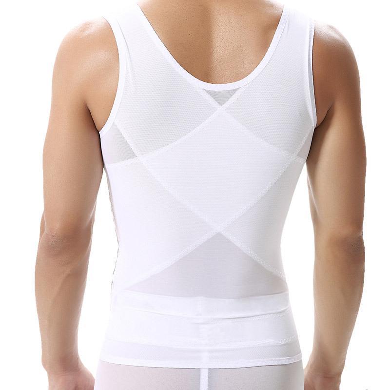 e89d8892b6 Men Sexy Body Slimming Tummy Waist Belly Corsets Girdle Shapewear Underwear  Shaper Vest Black White Breathable Quick Dry UK 2019 From Rykeri