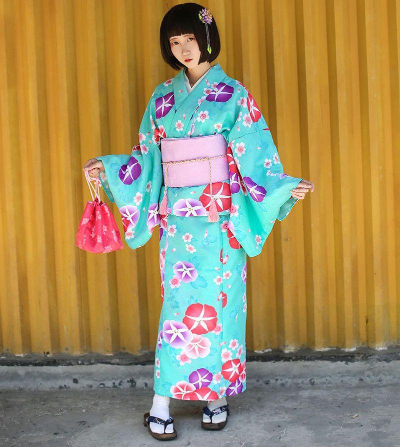 a27e2e34f 2018 Japanese Traditional Cotton Cosplay Kimono Kawaii Japan Yukata ...