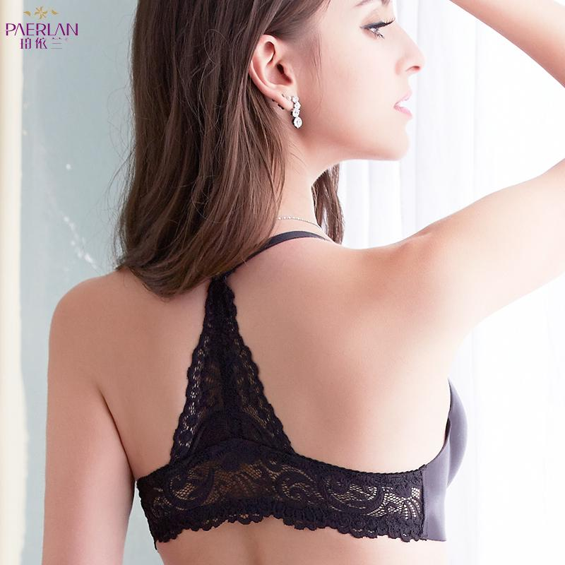 2c636c74aed92 2019 Sexy Front Button Lace Racerback Push Up Bra Summer A Piece Glossy  Seamless Underwear Adjusted Straps Convertible Underwire From Watchlove