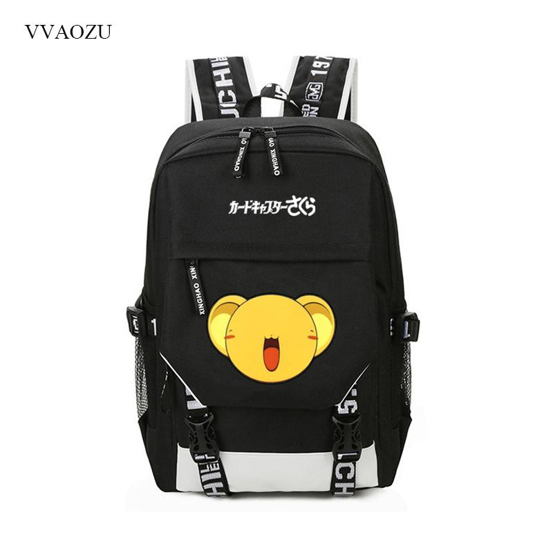 bded6682f6 Card Captor Sakura Backpack Casual Big Size USB Charging Schoolbag ...