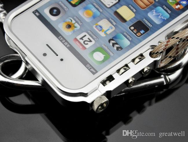 4th design Trigger paraurti in metallo iphone X 7 8 5 5S SE 4 6 6S Plus premium Custodia in alluminio aeronautico cassa del telefono edizione tattica