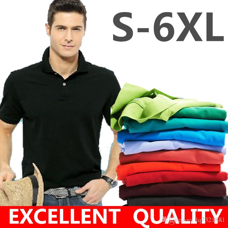 2019 Men Embroidery Polo Shirt Classic Summer Style Short Sleeve Polo Homme  Casual Mens Solid Polo Shirt Brands Logo Cotton Top Quality 2018 From  Lq7321881, ... 2756e0df476c