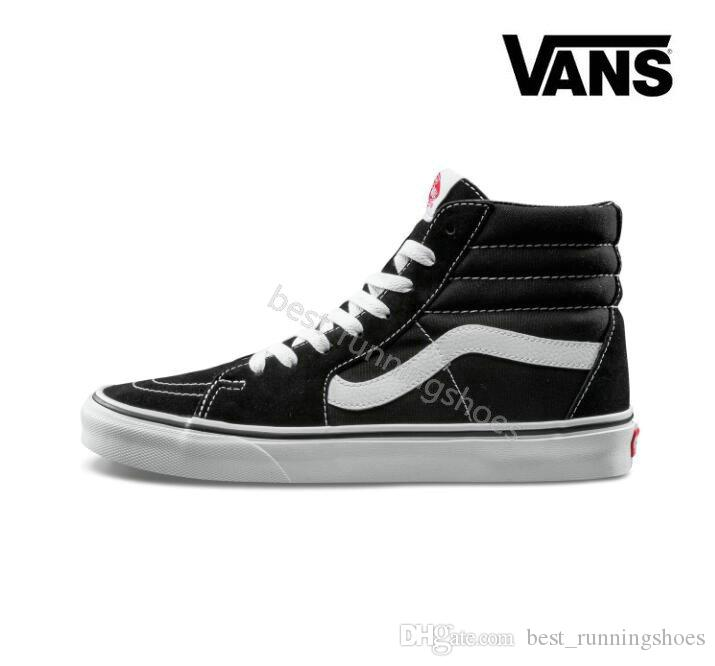 Scarpe Dimagranti 2018 VANS SK8 Hi Classic Old Skool Bianco Nero Zapatillas  De Deporte Donna Uomo High Top Low Canvas Casual Skate Scarpe Mens Sneakers  Da ... f6684938916