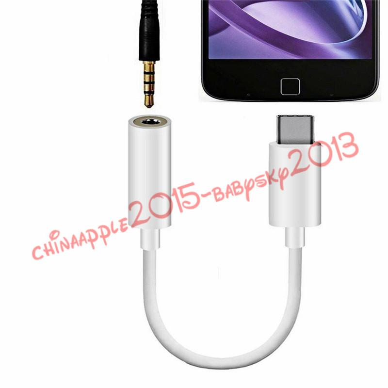 Adaptador de áudio Tipo-C Para Padrão de 3.5mm fêmea Jacket Tipo de Áudio C USB Para Nexus 5X6 P para samsung galaxy s8 htc lg g5 etc telefone móvel