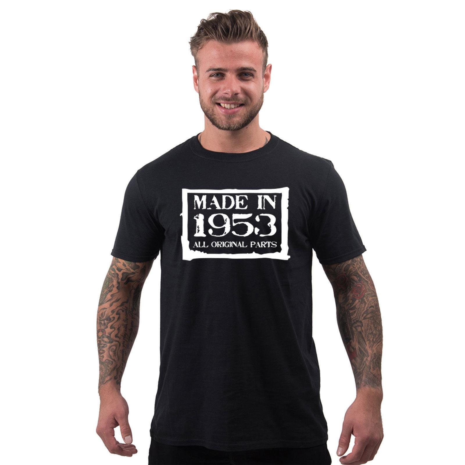 65th Birthday Gifts For Men Made In 1953 Novelty Gift Boxed Mens T Shirt Cool Casual Pride Unisex Tee Shirts From Cls6688521