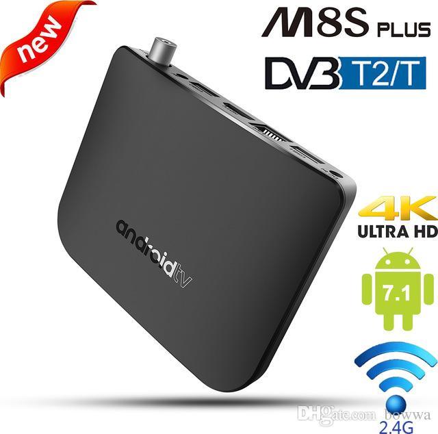 Mecool M8S PLUS DVB TV Box Android 7 1 DVB-T2/T Terrestrial Combo Smart  IPTV BOX 4K Amlogic S905D Quad Core 64-bit 1GB 8GB 1080p