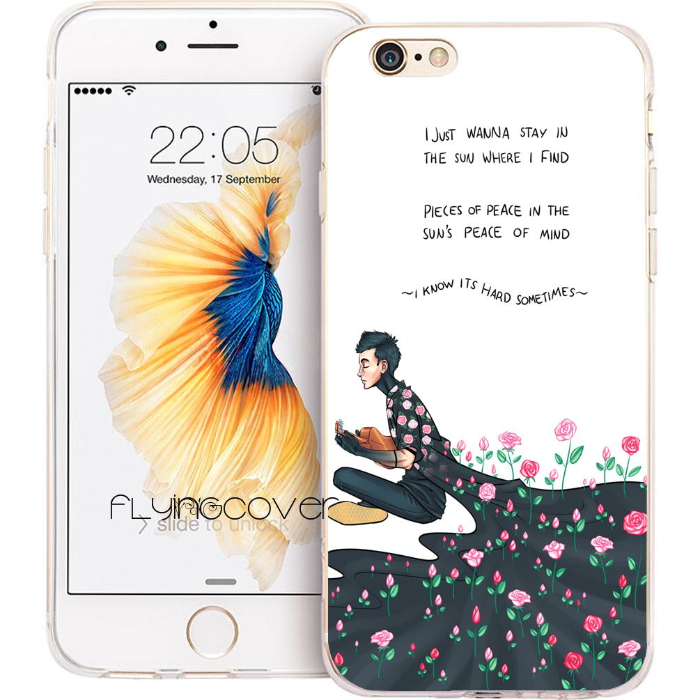 promo code 27dbd 3a780 21 Twenty One Pilots Phone Case for iPhone X 7 8 Plus 5S 5 SE 6 6S Plus 5C  4S 4 iPod Touch 6 5 Clear Soft TPU Silicone Cover.