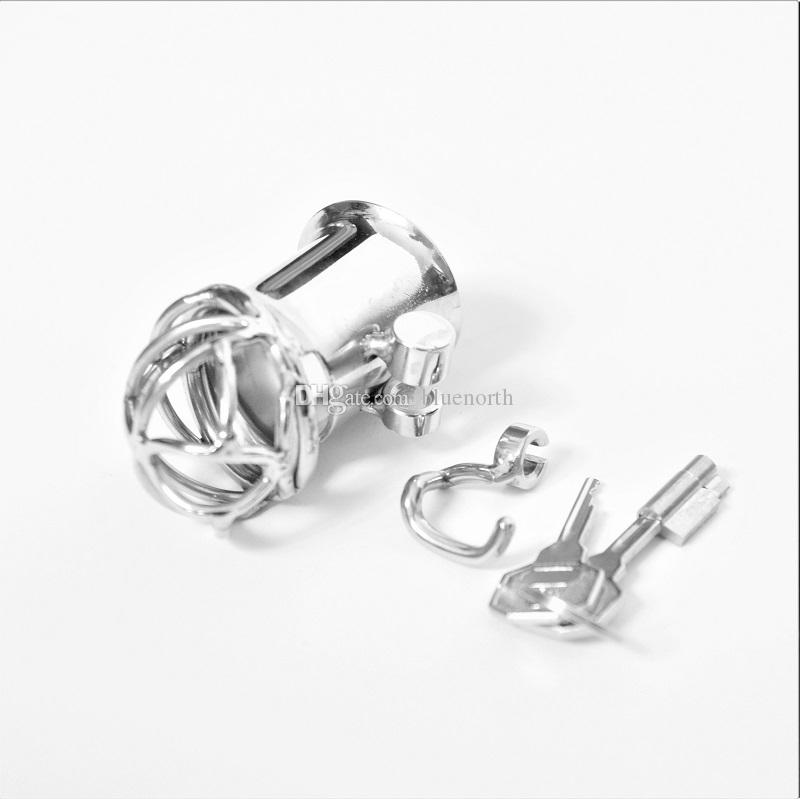 Stainless Steel Hook PA Puncture Chastity Device, Cock Cage, Penis Lock, Cock Ring, virginity Lock,Chastity Belt,Adult Game