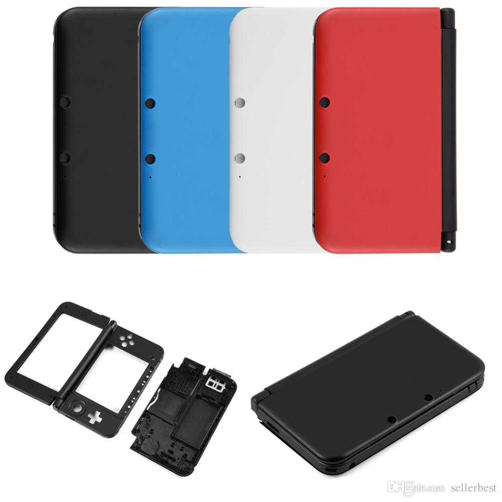 Full Housing Case Cover Shell Repair Parts Complete Fix Replacement Kit for Nintendo for 3DS XL Includes all buttons and switches, rubber