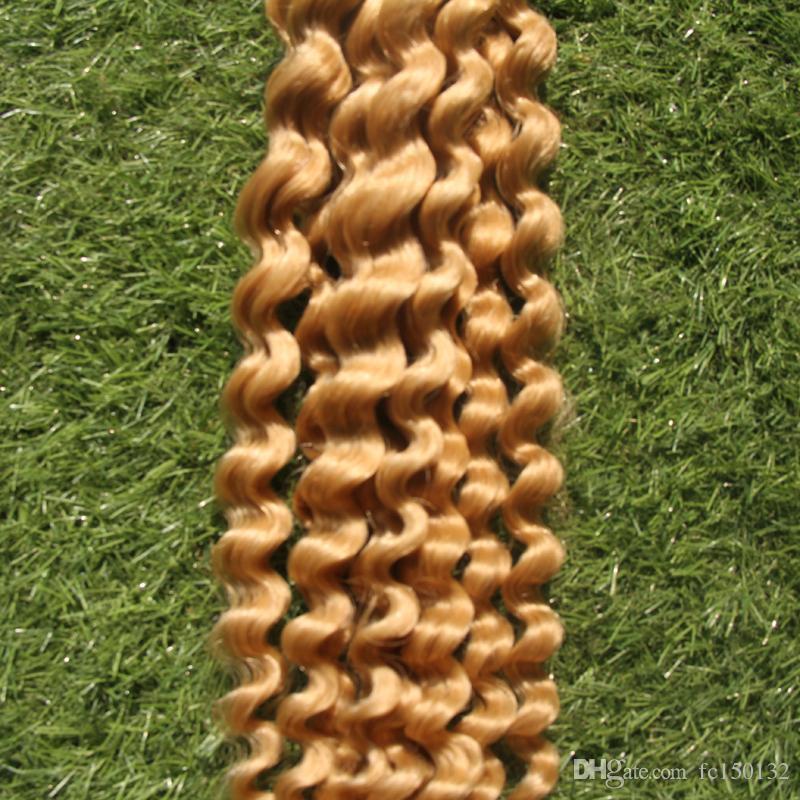 Intrecciatura di onde profonde estensioni dei capelli sfusi dei capelli Tessuto dei capelli 100G 613 Candeggina Bionda Trama Larghezza 25 cm-65 cm