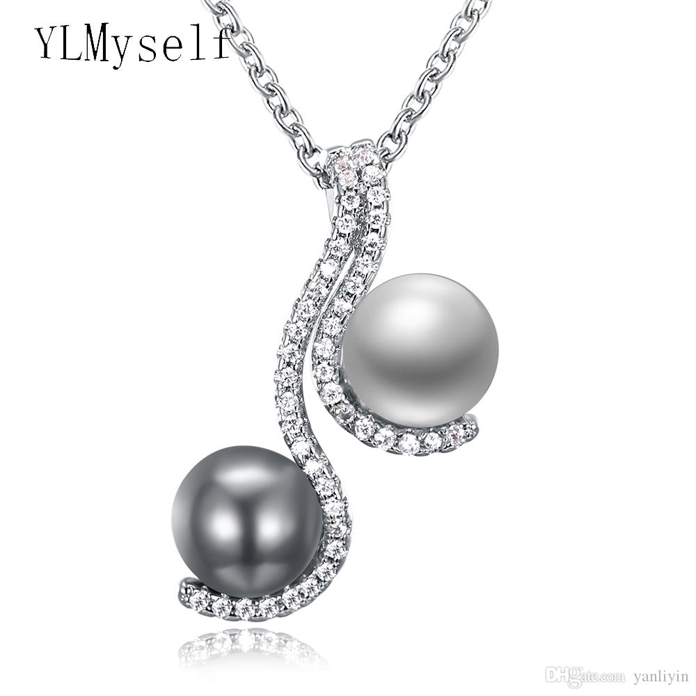 ff366e7cb1725 Wholesale Recommend Wonderful Suspension And Quick Delivery Chain Pendant  Necklace Grey White Pearl And Crystal Elegant Female Jewelry Gold Circle  Pendant ...