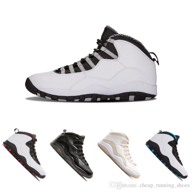 833dfdff91c 2018 Newest 10 10s Men Basketball Bobcats Chicago Cool Grey Powder Blue  Steel Grey Black White Shoes Sport Sneakers Size Eur 41 47 Kids Basketball  Shoes ...