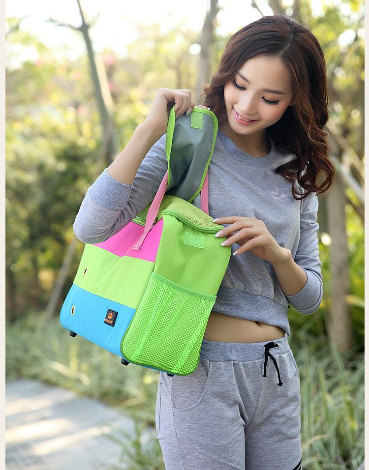 Durable Small Pet Cat Dog Outdoor Travel Luxury Carrier Bag Chihuahua Dog puppy Portable Carrying Bags Tote Handbag Pink Green
