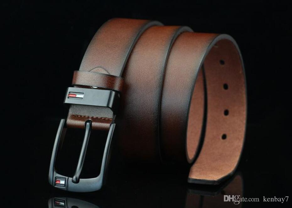 Superior quality designer Pin Buckle PU leather belts for men Famous Luxury Mens Brand Belt male ceinture wide 3.7CM