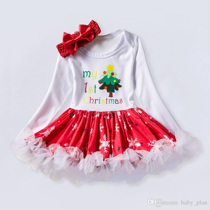 Girls Christmas Dress Babies Clothes Kids Holiday Clothes Children Dresses  For Girl Santa Claus Snowman Printed Child Infant Lace Tutu Skirt UK 2019  From ... 1bfdc4bb1
