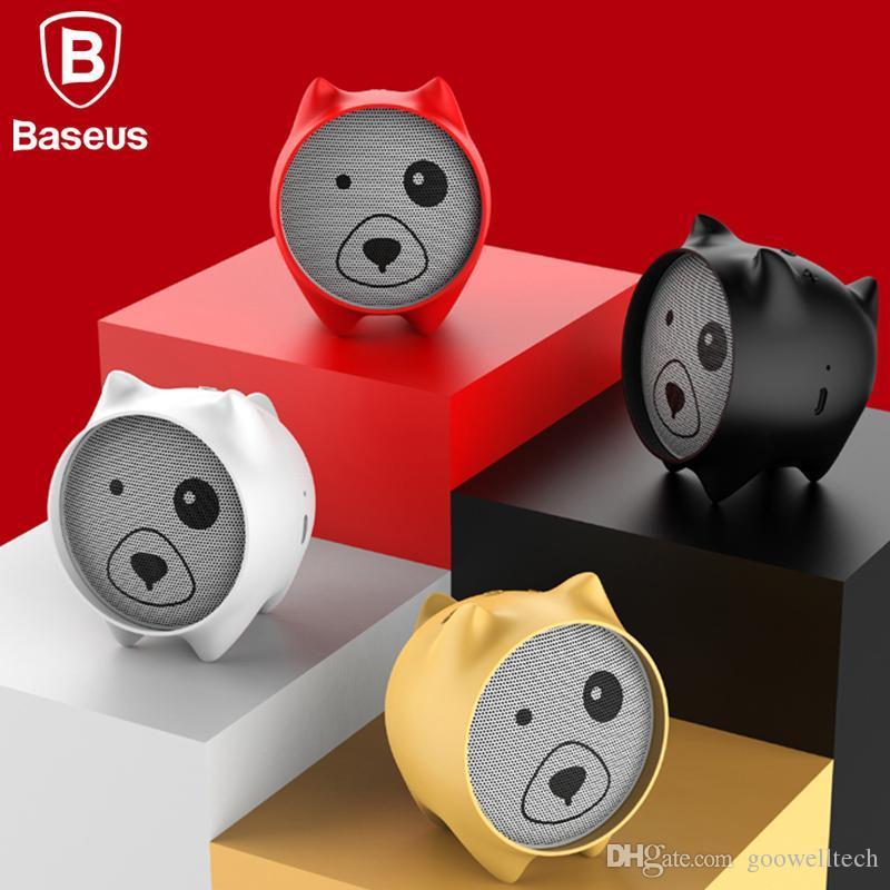 Baseus E06 Dog Bluetooth Speaker Portable Mini Bluetooth Speaker Gift  Speakers MP3 Music Player Stereo Sound Wireless Speaker