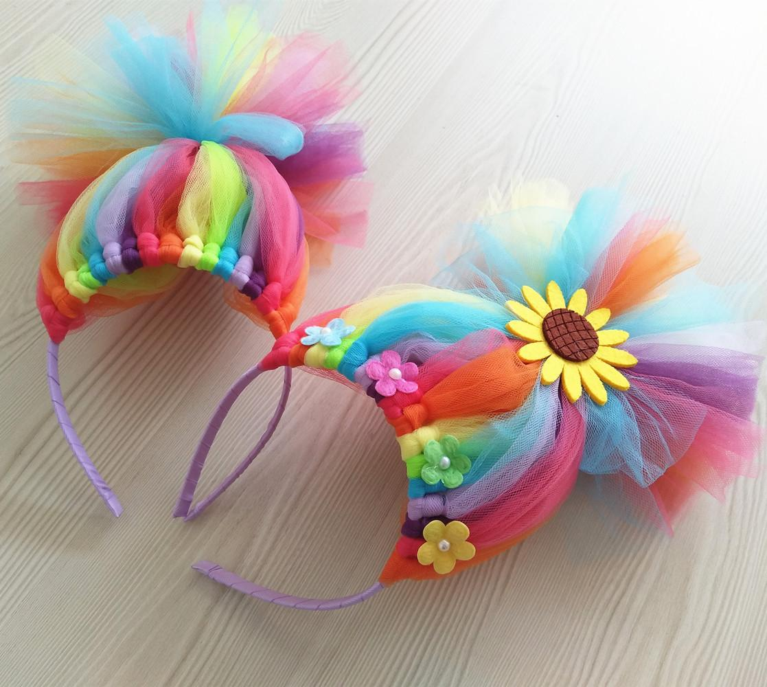 Wholesale PRINCESS TUTU Trolls Party Hairbands For Kids Girls Rainbow  Trolls Costume Hair Accessories Wig Cosplay Girl Headbands Themed Party  Decorations ... d020888b0a9