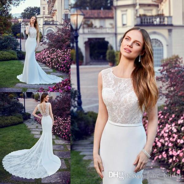 compre 2018 vestidos de boda del jardín de la sirena jewel sin
