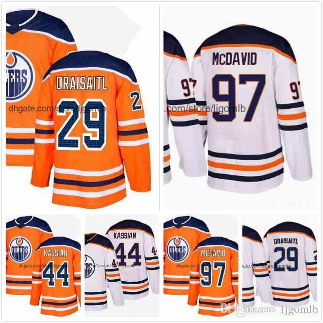 best service c2c79 26a8b Cam Talbot Jersey 33 Zack Kassian 44 Leon Draisaitl 29 Connor McDavid 97  Laurent Brossoit 1 Mens Hockey Jerseys 2018AD Edmonton Oilers S-3XL