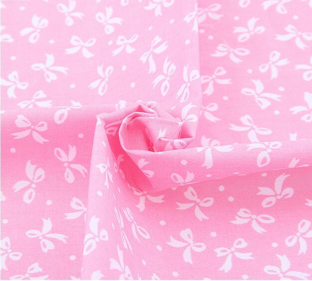 100% Cotton Fabric Pink Color ShuanShuo Brand Cotton Bundle Fabric Patchwork Textile Diy Sewing Fabric For Doll Clothes Bags 40*50 cm