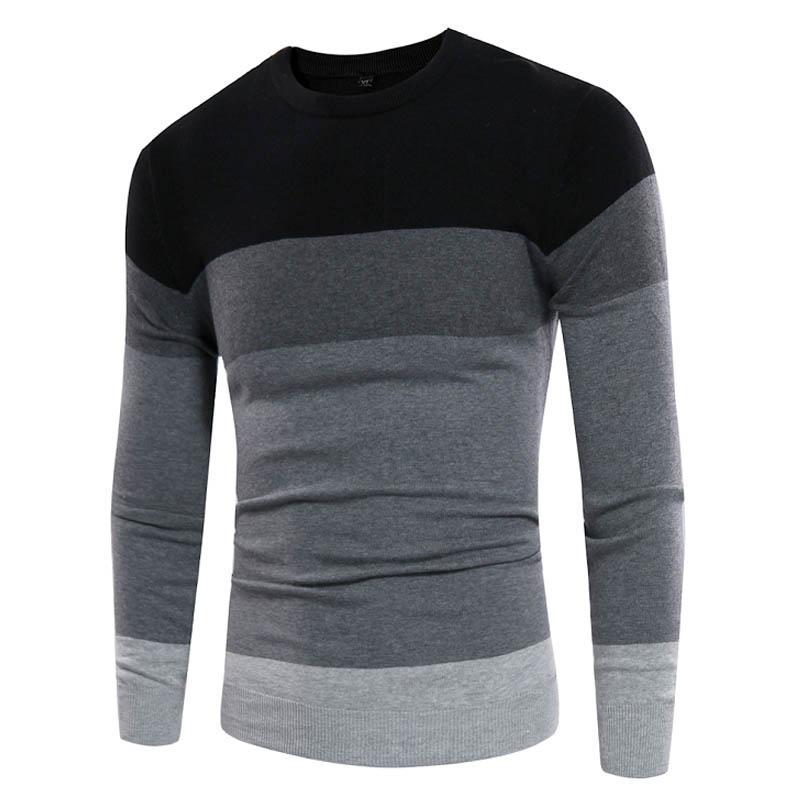 hot sale online b1cdd a3c8e Pullover Männer 2018 Marke Pullover Casual Pullover Männlichen O Kragen  Geometrie Einfache Slim Fit Stricken Herren Pullover Mann Pullover Männer