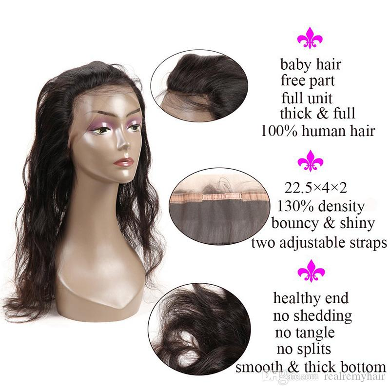360 Full Lace Frontal Closure With 3 Bundles Brazilian Virgin Human Hair Weaves Bundles Body Wave Cheap Brazilian Wavy Remy Hair Extensions
