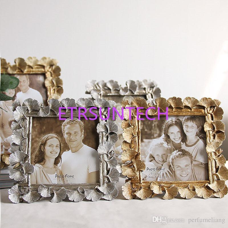 Grosshandel Kreative Harz Golden Ginkgo Leaf Frame Vintage