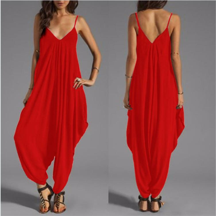 womens large size fashions long jumpsuits and rompers european women sexy loose jumpers onesie overalls sexy one piece outfits