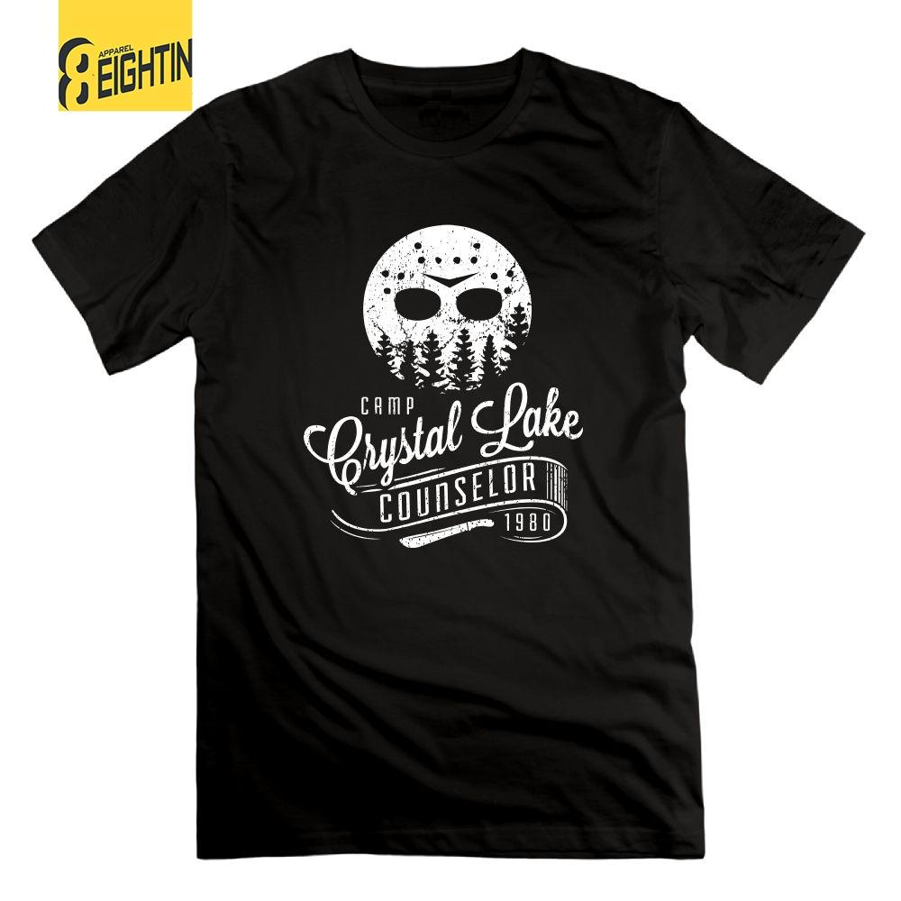0439a514dad2 Camp Crystal Lake Counselor Friday The 13th Horror Vintage T Shirts 100%  Cotton Men S O Neck Tee Shirts Short Sleeve T Shirts Online Shopping For T  Shirt ...