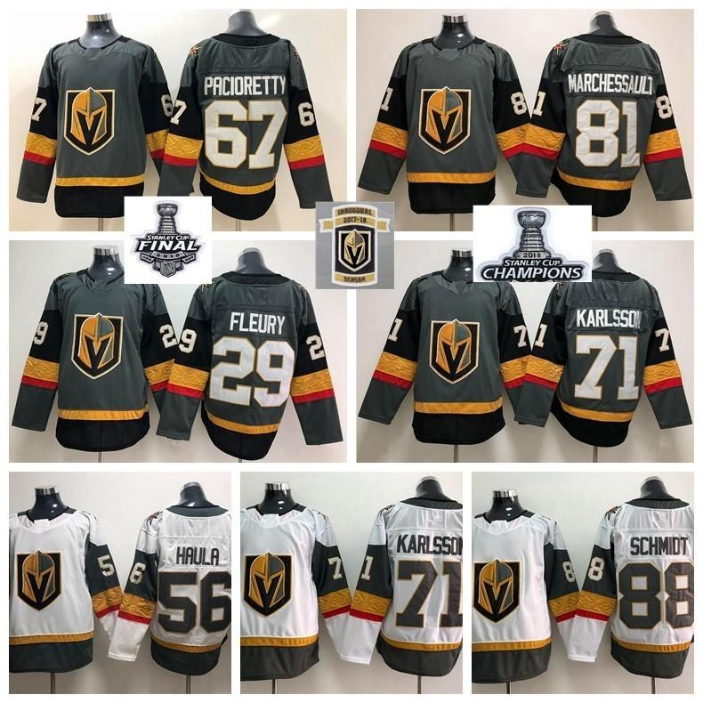 watch 45801 104ae 2018 Stanley Cup Finals Inaugural 67 Max Pacioretty Jersey Vegas Golden  Knights Karlsson Fleury Perron Marchessault Hockey Men Women Youth