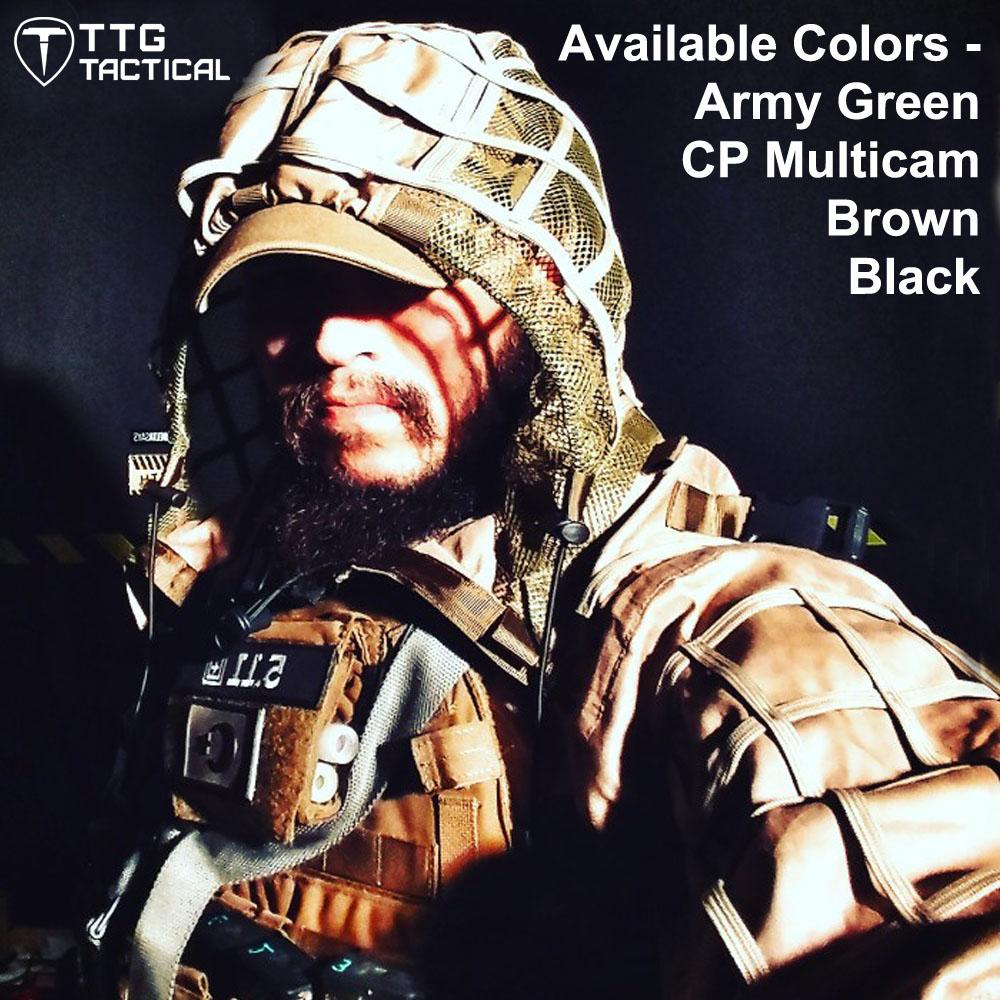 Tactical Viper Hood Tactical Sniper Ghillie Suit Lightweight Paintball Ghillie Jacket 4 Colors CP Multicam Army Green