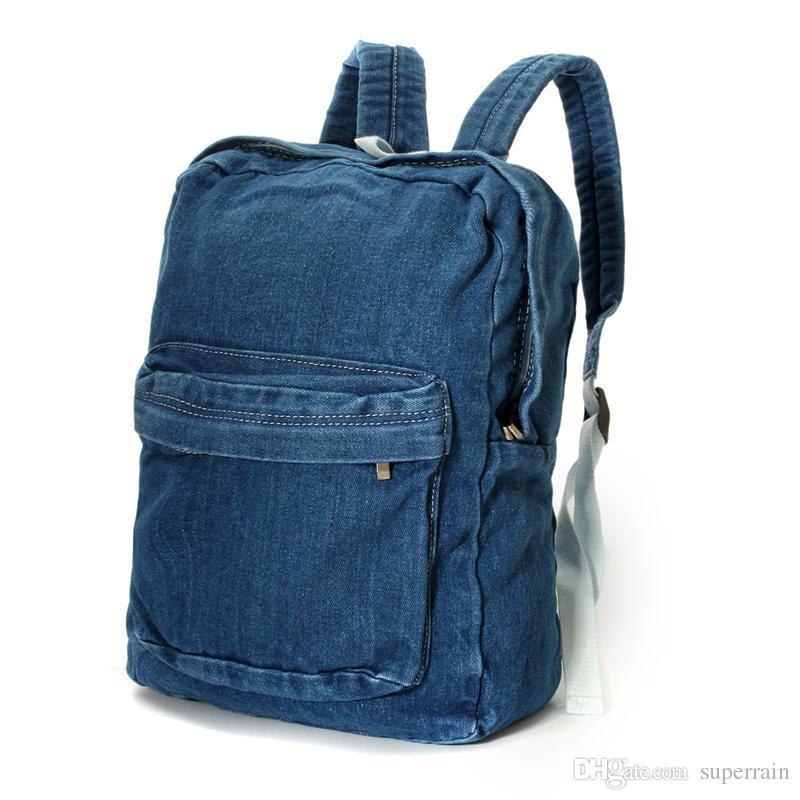117b3e4602c3 Canvas Denim Backpacks School Bags Girls Soft Jean Hand Washed Men Women  Casual Rucksack Mochilas Backpacks For Teens Cheap Backpacks From  Superrain