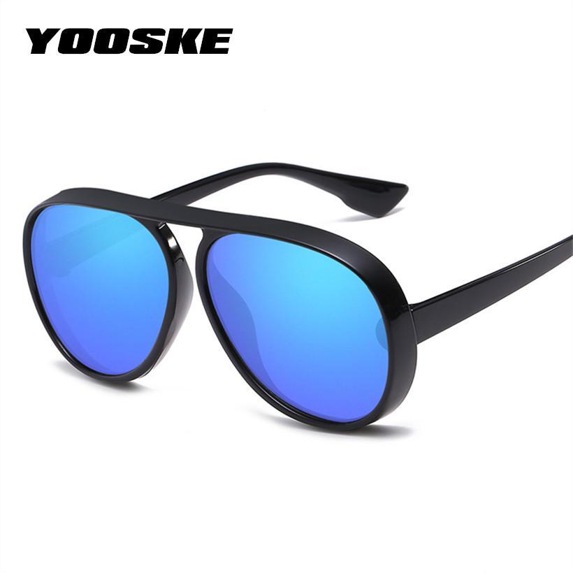 dadaffddec3 YOOSKE Oversized Sunglasses Men Women For Luxury Brand Designer Retro Sun  Glasses Female Male Big Frame Sunglass Shades Eyewear Bolle Sunglasses  Electric ...