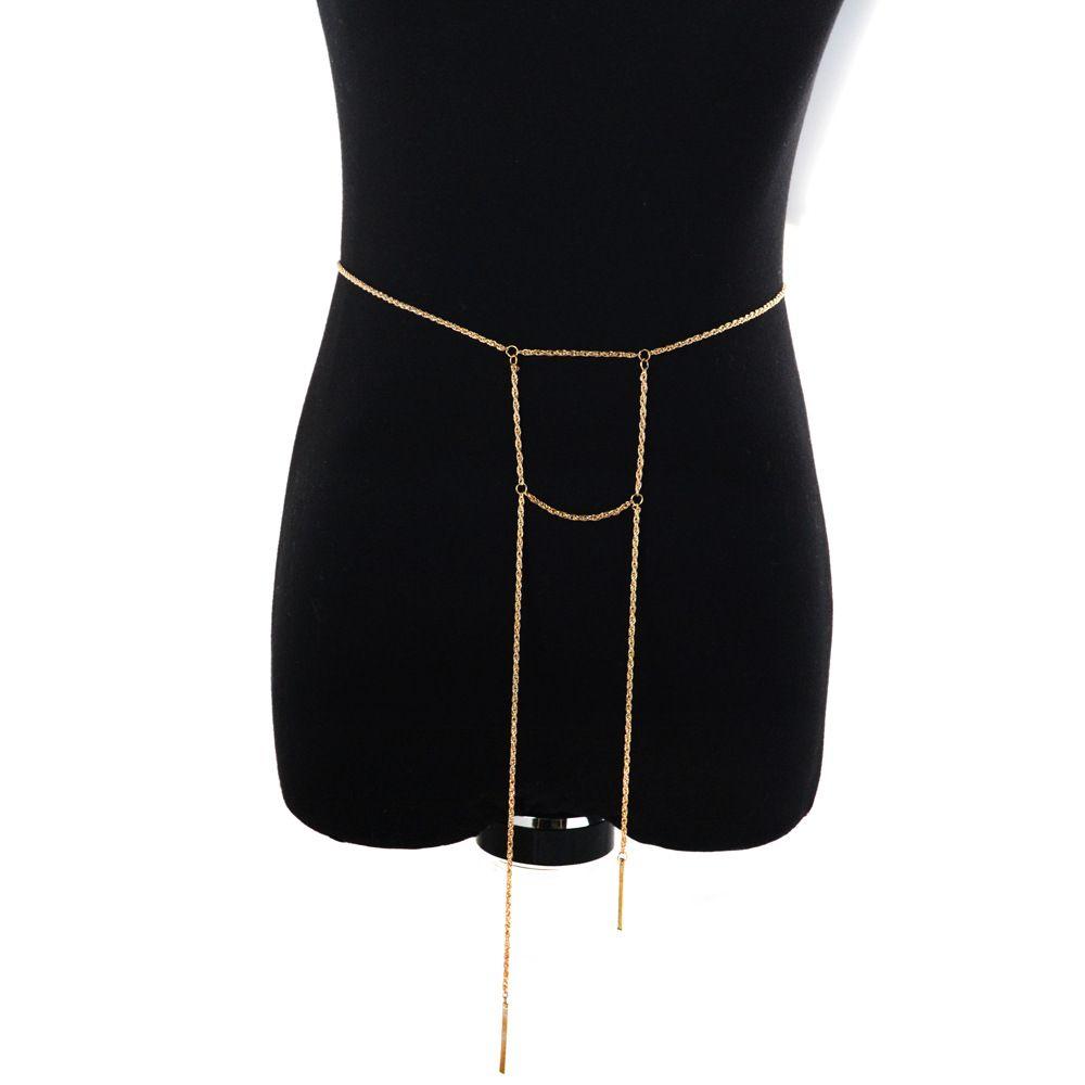 Boho Silver Gold Metal Belly Waist Chain Tassel Sequins Charms Bikini Beach Turkish Dance Belt Jewelry Vintage Lower Back Bikini Chain