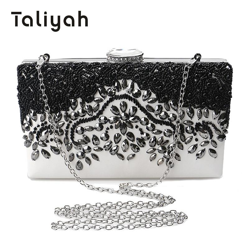 8cc7cb48b973 Taliyah Brand Handbags 2018 Women Black Clutches Wedding Bags Female Beaded  Pearl Evening Clutch Bags Party Purse Bolsa Feminina Wholesale Purses  Designer ...
