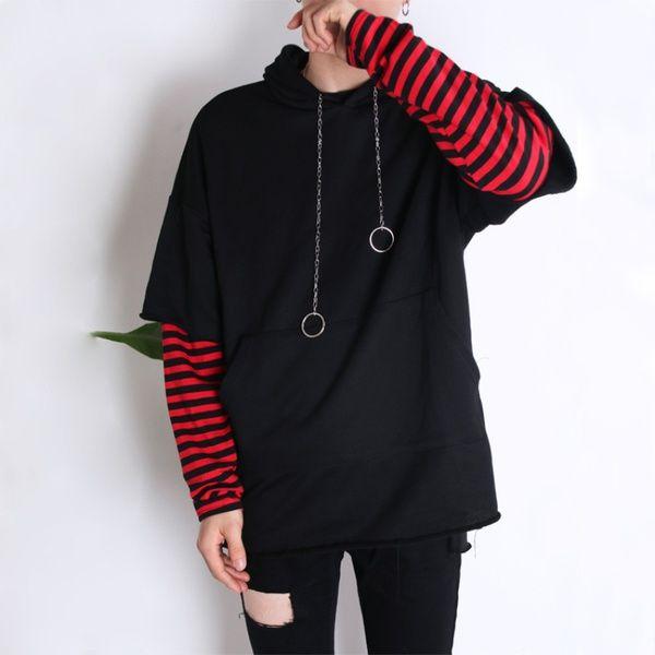 Japanese Harajuku Wind False Two Mens Hoodie Korean Students Camouflage  Jacket Loose Tide Small Hoodie UK 2019 From Junshengg 1fa3fb5e0aaf